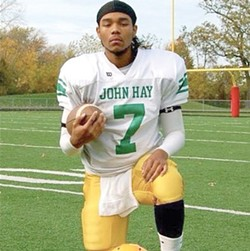 Donte McRae, a former John Hay quarterback, died in Columbus in 2012 when the car he was riding shotgun in swerved off the road, flipped over and crashed into a tree.