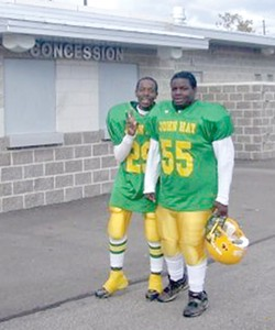 Tyree Goins and Brandon Young in 2009 before Young was shot and killed in a drive-by.