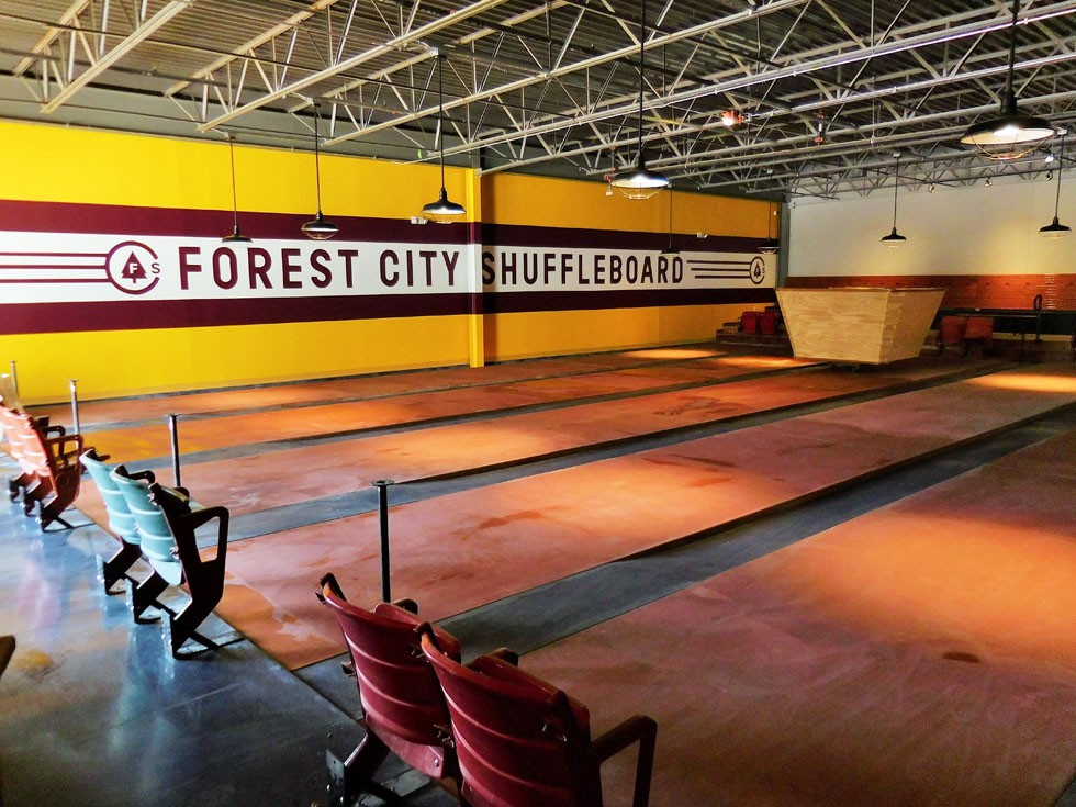 Forest City Shuffleboard - PHOTO VIA DOUGLAS TRATTNER