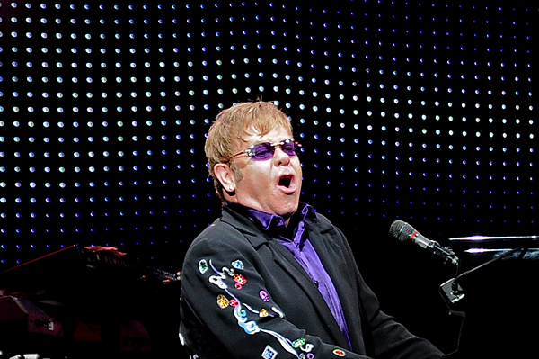 Elton John performing at Blossom Music Center in 2011. - JOE KLEON PHOTO
