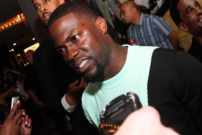 Kevin Hart promoting a film at Tower City Cinemas back in 2014. - EMANUEL WALLACE PHOTO