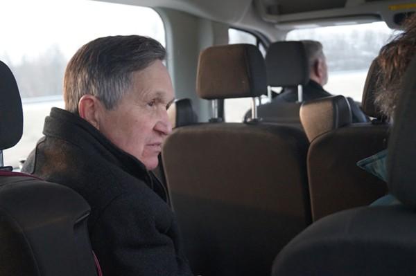 "Dennis! learns about 'the microbio' with John Stolz / Ohio ""Environmental Devastation Tour,"" 3/9/2018. - SAM ALLARD / SCENE"