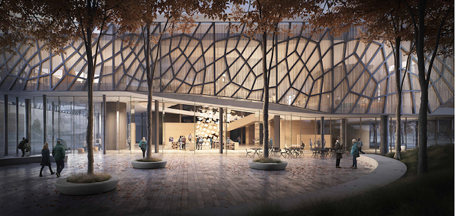 The exterior of the Bialosky & Vines proposal. - BIALOSKY & VINES
