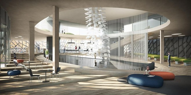 The interior of the Bialosky & Vines proposal. - BIALOSKY & VINES