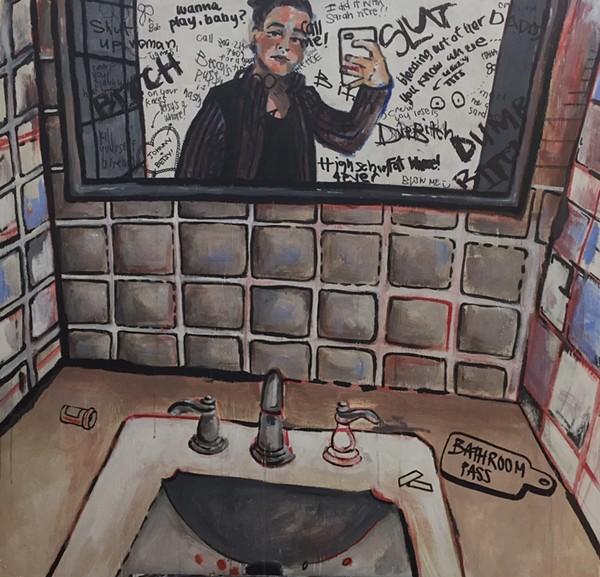 """Bathroom Pass"" by Hannah Hachamovitch - COURTESY OF MVMENT MAGAZINE"