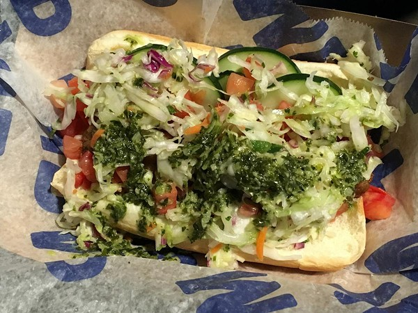 The Summer Veggie Dog from Happy Dog at Progressive Field - COURTESY OF MLB PRESS RELEASE