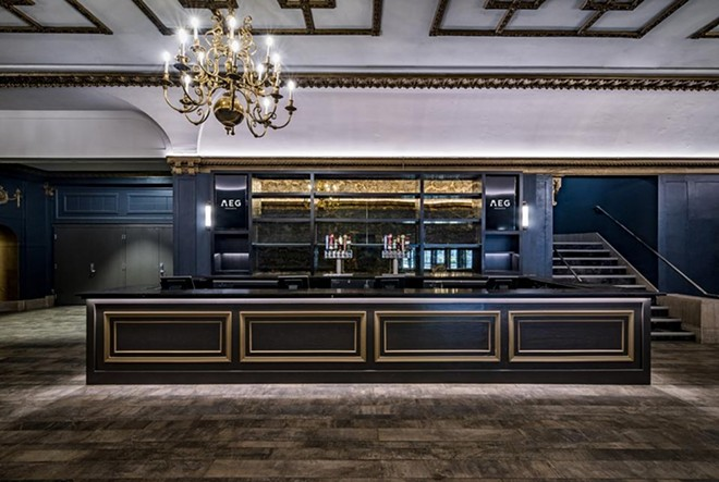 A head-on view of the renovated first floor bar. - COURTESY OF AEG PRESENTS