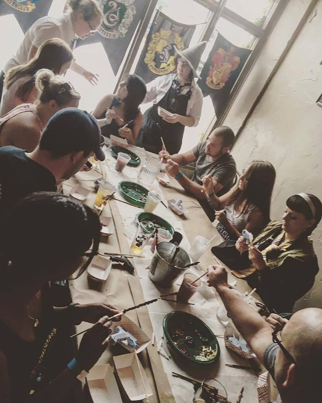 Potterheads attending a wand making workshop - COURTESY OF THE SIDE QUEST