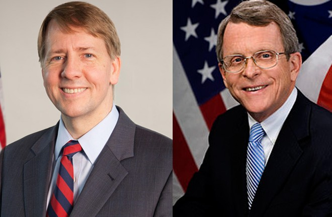 Ohio Gubernatorial Candidates Richard Cordray D-(Left) and Mike DeWine R-(Right) - OFFICIAL OHIO HEADSHOTS