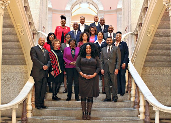 Ohio's Legislative Black Caucus, with Stephanie Howse in front. - OHIOHOUSE.GOV