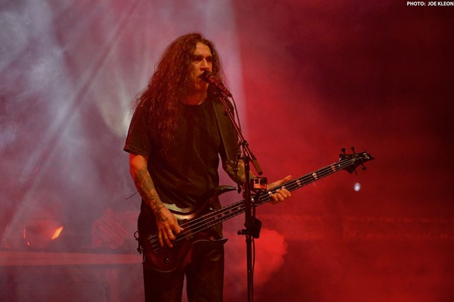 Slayer performing at Blossom. - JOE KLEON