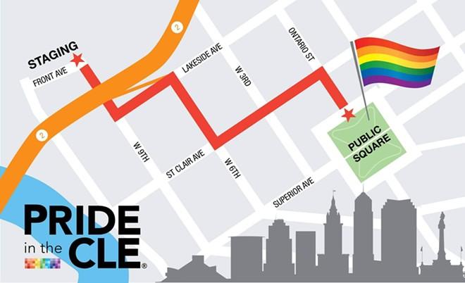 MAP VIA THE LGBT CLEVELAND COMMUNITY CENTER
