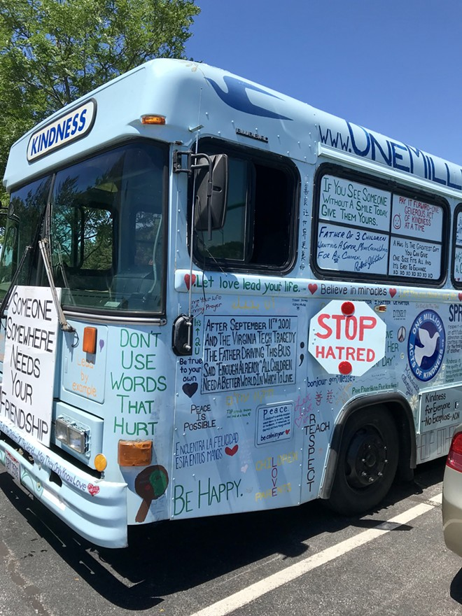 The Kindness Bus parked in Independence June 21. - ALEXANDRA SOBCZAK