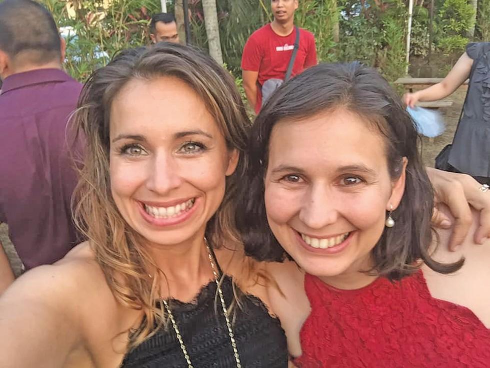 Priscilla Leighton and Miriam Bongoloan - PHOTO COURTESY PRISCILLA LEIGHTON