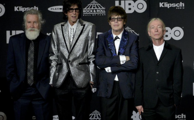The Cars at last year's Rock Hall Inductions. Ocasek is the second from the left. - JOE KLEON