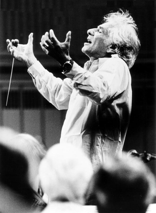 Leonard Bernstein conducting. - PAUL DE HECK, COURTESY OF THE LEONARD BERNSTEIN OFFICE, INC.