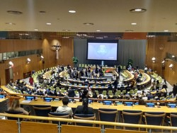 At the UN Youth Climate Summit - COURTESY OF ELENA STACHEW