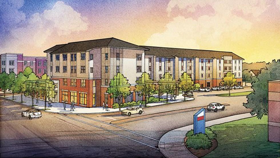 MetroHealth Apartment Plan - PHOTO COURTESY RDL ARCHITECTS
