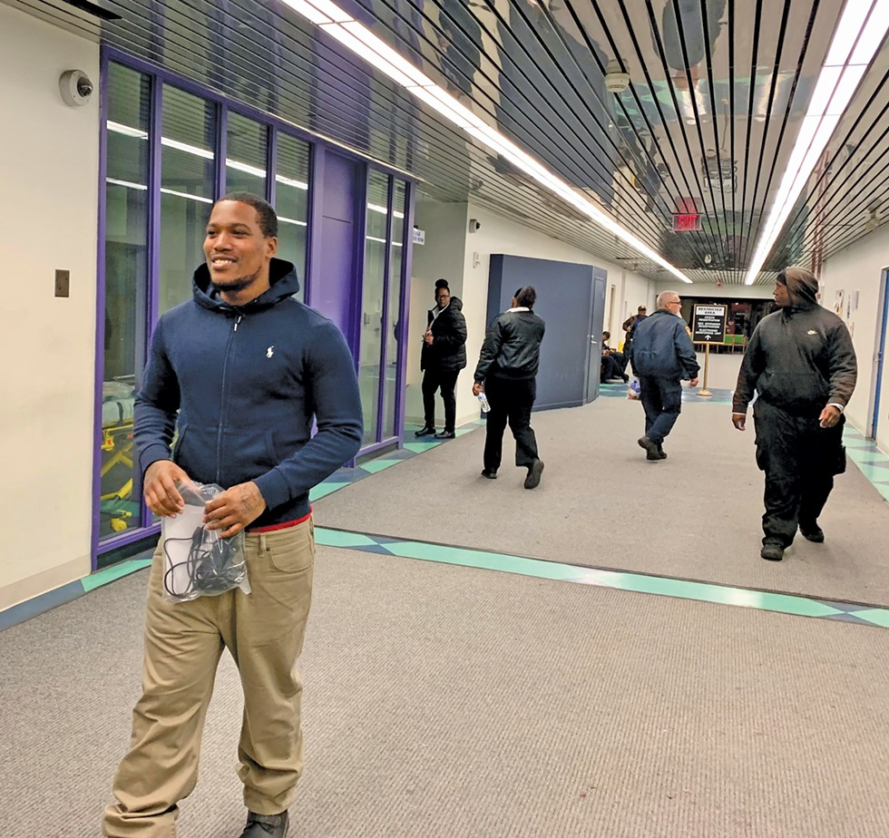 Octavius Williams walks out of the Justice Center on Dec. 17, 2019. - PHOTO BY ERIC SANDY