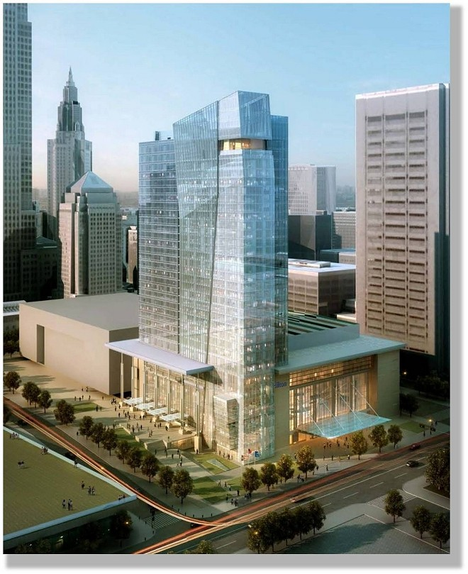 ARCHITECT'S RENDERING OF THE HILTON CLEVELAND DOWNTOWN, 2013.