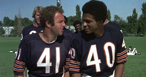 James Caan and Billy Dee Williams in Brian's Song (1971).