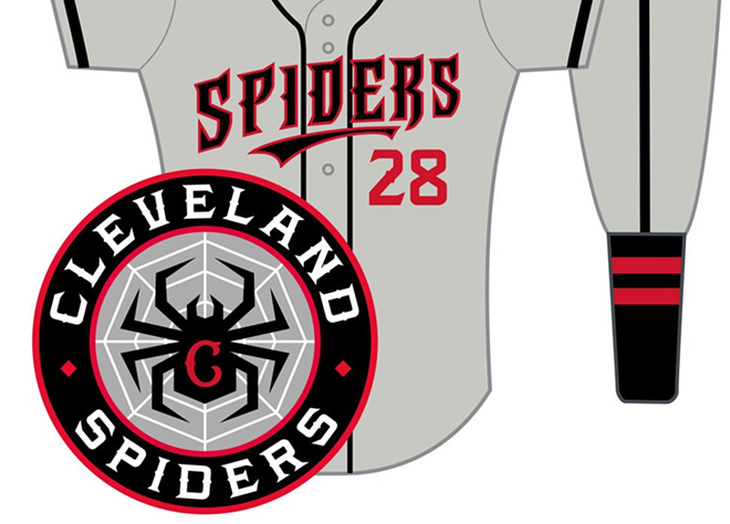 CLEVELAND SPIDERS CONCEPT BY BEN PETERS SUBMITTED TO SCENE'S REDESIGN THE TRIBE CONTEST
