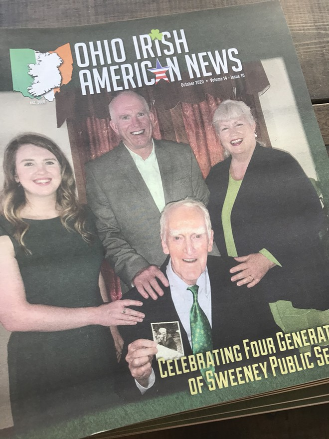 Sweeneys on the cover of Oct. 2020 issue of the Ohio Irish American News - VINCE GRZEGOREK / SCENE