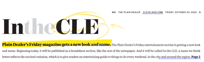 """The PD's """"In the CLE"""" section, (10/23/20). - THE PLAIN DEALER E-EDITION"""