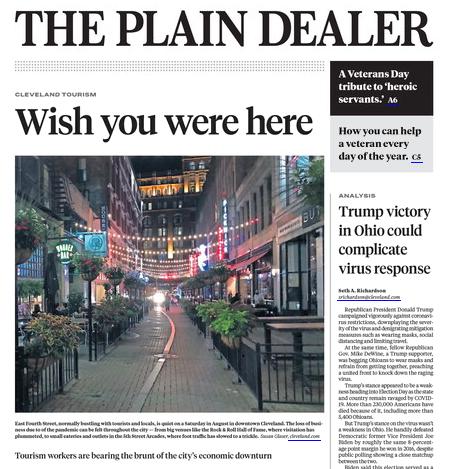 Plain Dealer e-edition, (11/11/20).