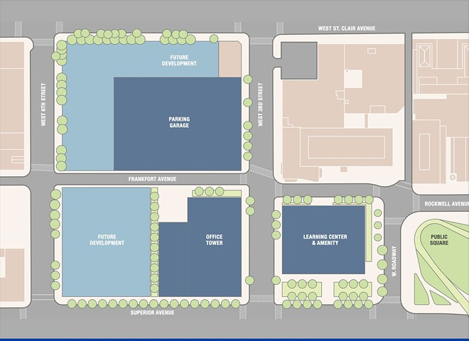 Rendering of site plan off Public Square. - SHERWIN WILLIAMS