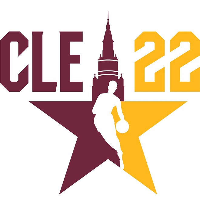 One of the NBA 2022 All-Star Game's secondary logos.