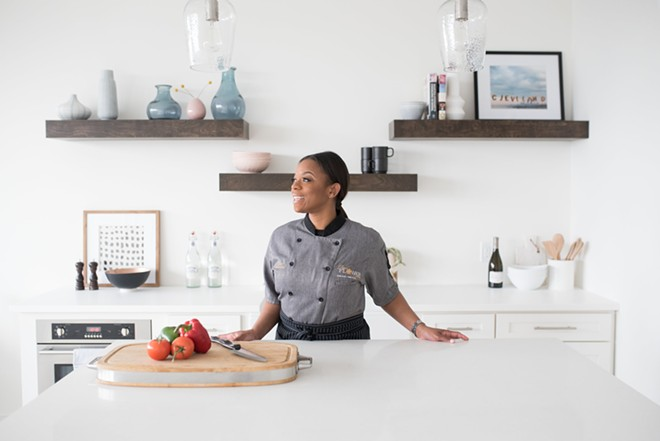 Tiwanna Scott-Williams in her element: a kitchen. - KAMRON KHAN PHOTOGRAPHY