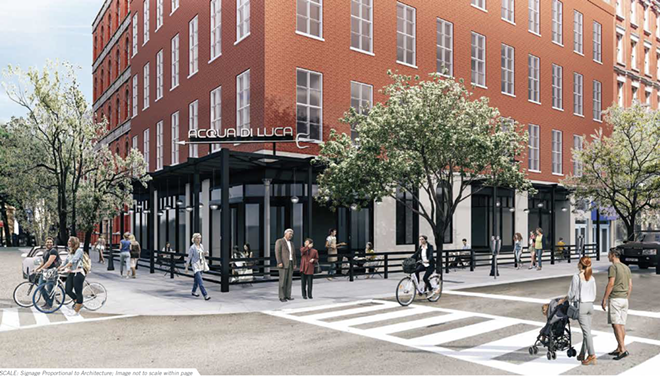 Artist's rendering of Acqua di Luca, opening soon in downtown Cleveland. - LOLA SEMA
