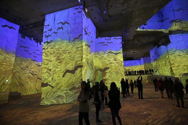 Immersive Van Gogh Exhibit features 500,000 cubic square feet of floor-to-ceiling digital projections. - BOULENGER XAVIER / SHUTTERSTOCK.COM