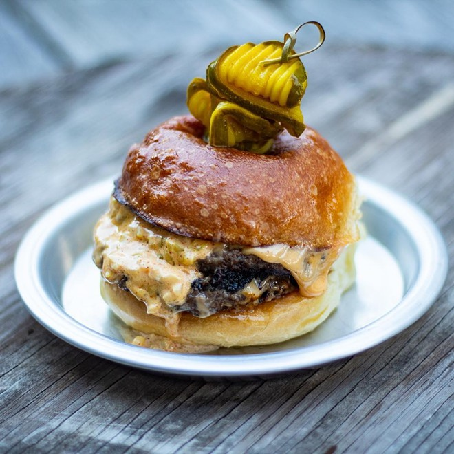 The ridiculously delicious Tinman burger, now available at BottleHouse Lakewood. - SHAWN BREWSTER