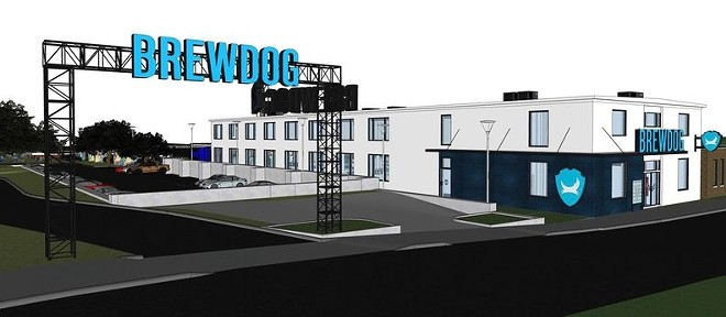 Rendering of proposed BrewDog development in the Flats. - SURFACE-ID
