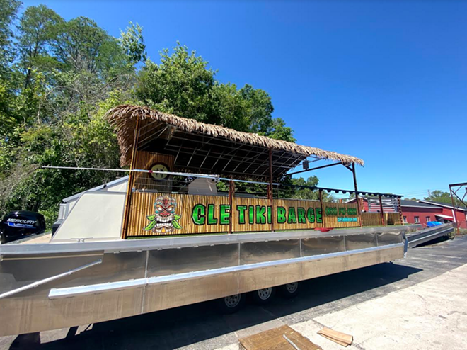 You and 29 of your closest friends can now take your tiki bar experience to the water - CLE TIKI BARGE