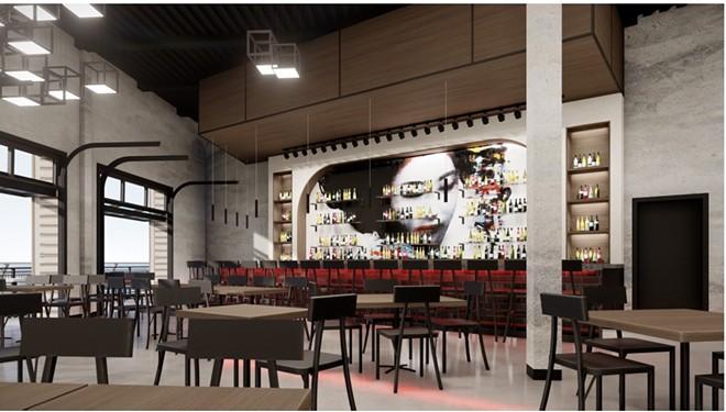Artist's rendering of the main floor dining room. - RICHARDSON DESIGN