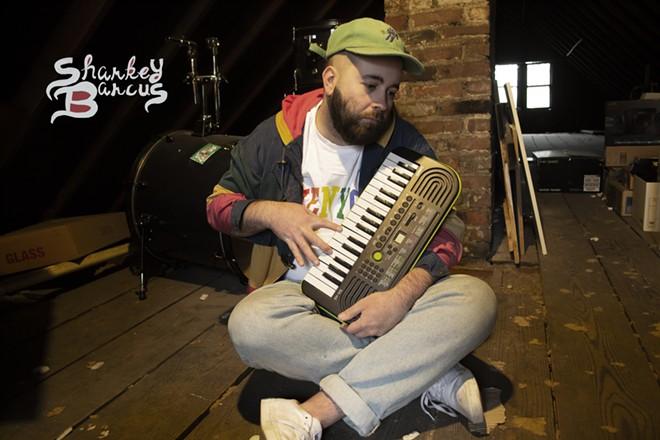 Local indie musician Alex Ashbrook, aka Sharkey Barcus. - COURTESY OF SHARKEY BARCUS