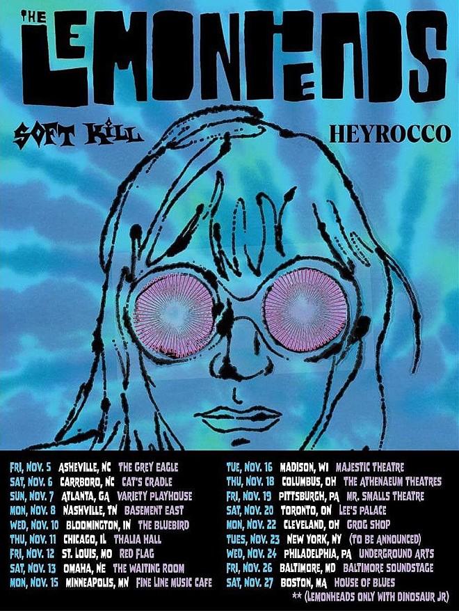 Poster art for the Lemonheads fall tour. - GROGSHOP.GS