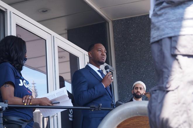 Basheer Jones announces his candidacy for mayor, (5/6/21). - SAM ALLARD / SCENE