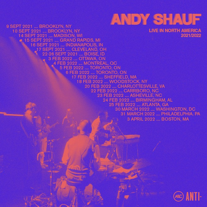 Poster art for Andy Shauf's fall tour.