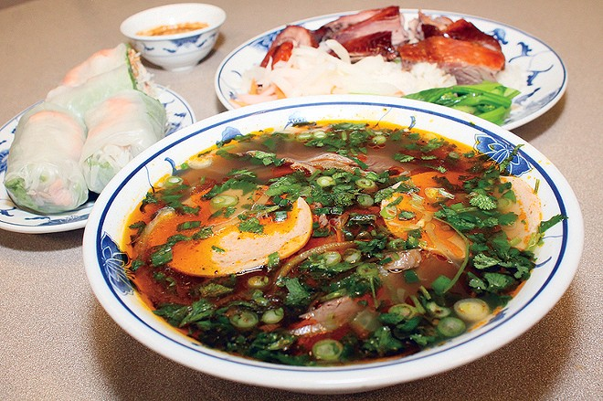 A piping-hot bowl of bun bo hue at Asia Foods. - SCENE ARCHIVES