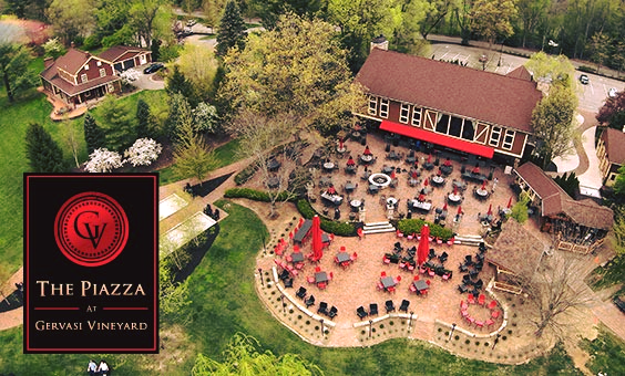 The newly expanded Piazza at Gervasi Vineyard in Canton, Ohiio. - COURTESY GERVASI VINEYARD