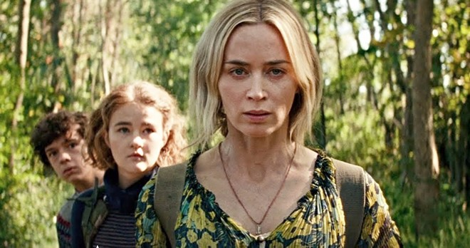 Noah Jupe, Millicent Simmonds and Emily Blunt in A Quiet Place Part II - PARAMOUNT PICTURES