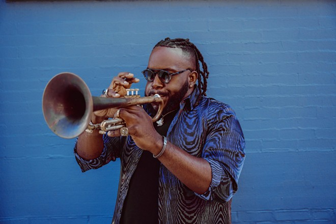 Trumpeter and band leader Marquis Hill. - COURTESY OF TRI-C