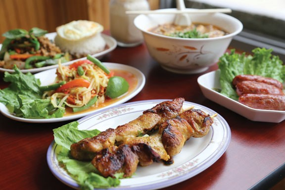 A few of the great dishes at Thai Thai restaurant in Lakewood. - EMANUEL WALLACE