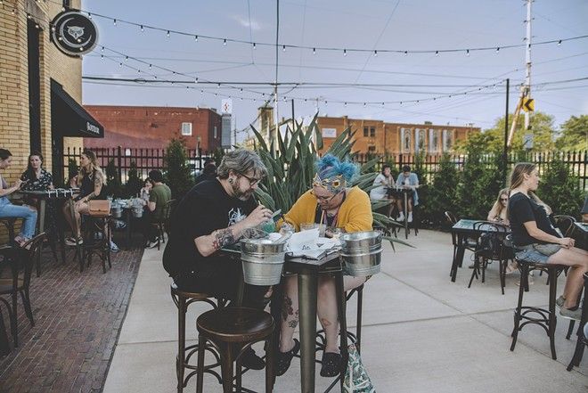 Akron's version of Twin Palms at the Spotted Owl. - HEIDI ROLF