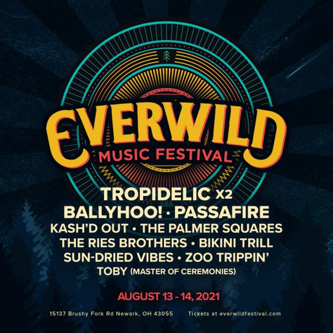 Poster for Everwild music festival.