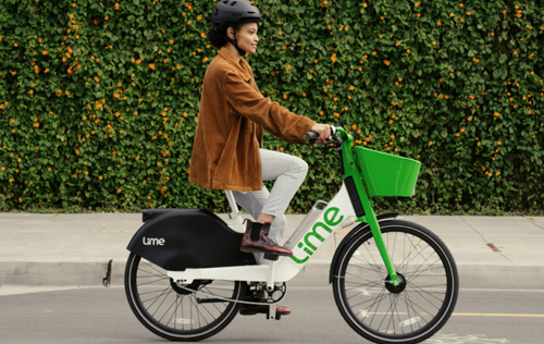 Lime e-bikes have arrived for the summer - PHOTO CREDIT: MATTHEW REAMER